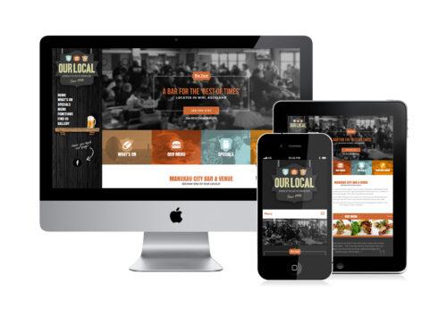 Bar & Grill website design