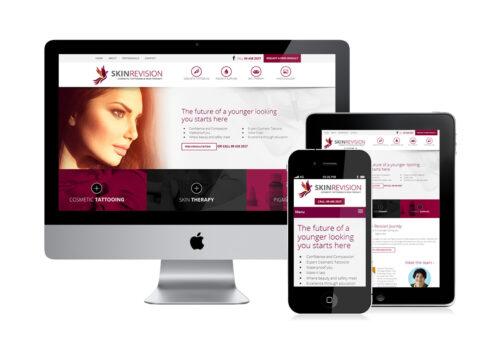 Skin Revision website design