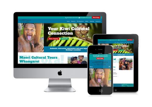 Maori Tours website design