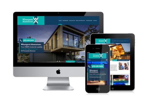 Whangarei Aluminium website design